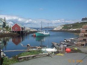 Peggy's Cove, Nova Scotia  Actual size=130 pixels wide